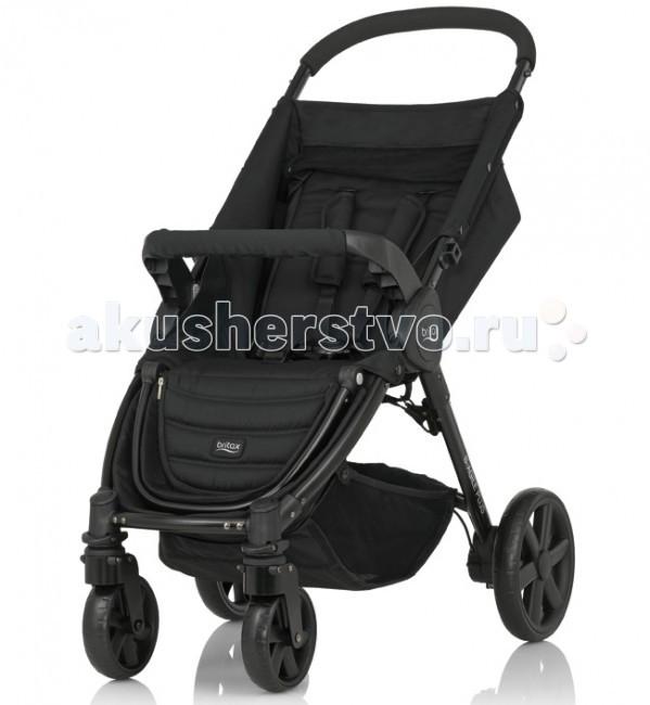 Прогулочная коляска Britax Roemer В-Agile 4 PlusВ-Agile 4 PlusПрогулочная коляска Britax В-Agile 4 Plus с уникальной системой сложения одной рукой! Легкая и маневренная – она сделает прогулку с малышом максимально удобной и комфортной!   Благодаря адаптерам CLICK&GO, которые приобретаются отдельно, на шасси коляски B-Agile 4 Plus Вы можете установить автолюльку Baby-Safe Sleeper или любое автокресло Romer группы 0+.   Особенности: Благодаря регулируемой спинке, которую можно установить в полностью горизонтальное положение, коляска подходит для детей с рождения и до 15 кг (примерно до 4 лет)  Легкая алюминиевая рама  Упрощенная система складывания коляски одной рукой  5-точечные ремни безопасности  Поворотные передние колеса с возможностью фиксации  Износостойкие покрышки  Большая корзина для покупок (максимальная нагрузка - 4 кг) Возможна дополнительная установка люльки в качестве опции  Очень просторный капюшон с солнцезащитным козырьком обеспечит дополнительную защиту от ветра, дождя, снега или солнца (приобретается отдельно, цвета на выбор)  Компактные размеры в сложенном виде: 41х58х73,5 см   В комплекте: прогулочный блок без капора, поручень.<br>