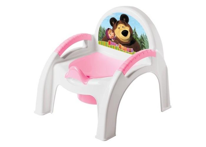 Горшок Бытпласт стульчик Маша и Медведьстульчик Маша и МедведьУстойчивый и удобный горшок-стульчик сделает процесс приучения ребенка к горшку быстрым и комфортным.   Внутренняя часть горшка легко вынимается и моется отдельно.   Горшок-стульчик имеет эргономичный дизайн, имеются удобные подлокотники.  Размер 30x31x30 см.<br>