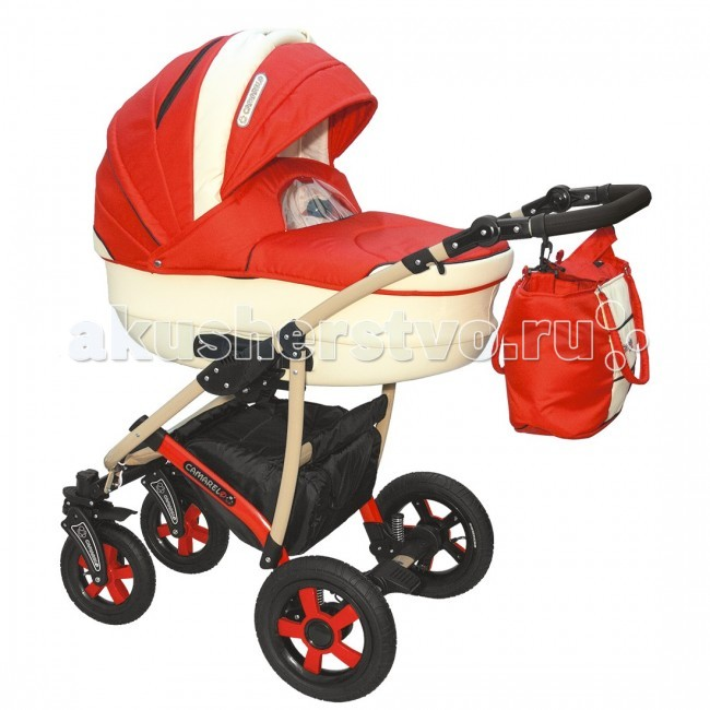 Коляска Camarelo Carmela 3 в 1Carmela 3 в 1Коляска Camarelo Carmela 3 в 1 разработана специально для детей от самого рождения до 3х лет. Модель выполнена из высококачественных современных материалов, отличается стильным внешним видом, надувными колесами и современной конструкцией . Включает в себя комфортную люльку-переноску для новорожденных, автокресло-переноску и прогулочный модуль для детей в возрасте от полугода. В коляске Camarelo Carmela 3 в 1 объединились все самые удачные детали, необходимые для удобства мамы и малыша при любых погодных условиях.  Люлька: высококачественные современные материалы отличная вентиляция внутри коляски просторная люлька из пластика с регулируемым подголовником возможность установки в двух положениях с противоположным направлением ручка для переноса люльки  защитный капор со смотровым окошком съемная подкладка люлька дополнена матрасиком и утепленным чехлом  Прогулочный блок: 3 положения спинки, включая горизонтальное 5-ти точечные ремни безопасности защитный бампер регулируемая по высоте подножка съемный капюшон чехол для ножек  Автокресло: Вес ребенка От 0 до 13 кг (группа 0+) Способ установки спиной вперед Количество положений ручки: 2 Размер 65х56х58 см Вес: 3 кг  Шасси: возможность установки автокресла надежная устойчивая конструкция рамы маневренность и отличная проходимость хорошая амортизация надувные колеса на подшипниках передние колеса поворотные, с функцией фиксации 5 уровней высоты ручки корзина для покупок  В комплекте: шасси люлька прогулочный блок автокресло сумка для мамы дождевик москитная сетка  внутренние размеры люльки: длина — 85 см, ширина — 37 см ширина сидения: 32 см<br>