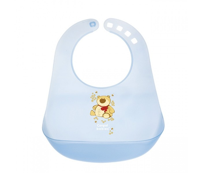 Нагрудник Canpol пластиковый 2/404пластиковый 2/404Практичный пластиковый нагрудник, предохраняет одежду ребенка от загрязнения во время кормления. Крошки и капли попадают в большой карман. Регулируемая застежка.<br>