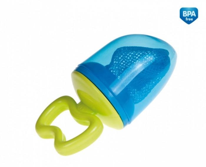 Canpol Ниблер Ситечко для кормления 56/105Ниблер Ситечко для кормления 56/105Ситечко для кормления от компании Canpol babies позволяет ребенку кушать натуральное питание без риска подавиться.  Идеально для продуктов (соответствующих возрасту ребенка), включающих свежие, охлажденные или замороженные фрукты, кусочки овощей и многое другое.  Ситечко для кормления, также известное как ниблер или нублер - это приспособление, с помощью которого малыш сможет безопасно есть фрукты, овощи и обучаться жеванию. В специальную сеточку вставляется кусочек фрукта или овоща. На ситечке есть кольцо, которое прикручивается к ручке. Через мелкие ячейки малыш не сможет откусить кусочек, в его ротик будут попадать только мельчайшие частички продукта, безопасные для проглатывания. Сверху ниблер закрывается защитным гигиеническим колпачком. В комплект входит 1 нублер, 2 сменные сеточки, ручка, кольцо.  Максимальная допустимая температура для ситечка 60 градусов Цельсия.<br>