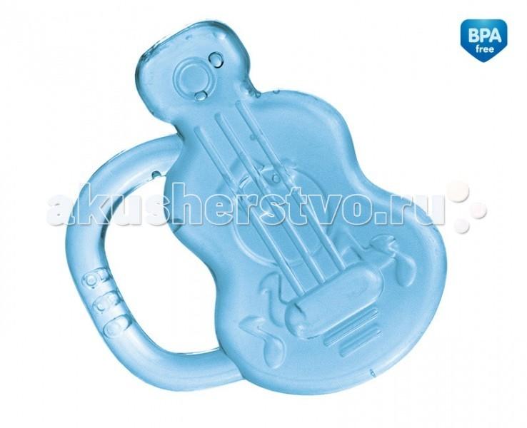 Прорезыватель Canpol Гитара охлаждающий 74/004Гитара охлаждающий 74/004Охлаждающий прорезыватель Canpol Гитара 74/004 успокаивают боль в деснах, когда у малыша начинают резаться зубки.   Вода в прорезывателе прошла процесс дистилляции LGT, благодаря которому в воде не появляются бактерии и не выпадает осадок.   Просто поместите его в холодильник на 10-15 минут и дайте малышу. Прорезыватель изготовлен из нетоксичного мягкого материала.  Его легко брать и держать маленькими ручками.   Не замораживайте и не кипятите прорезыватель.<br>