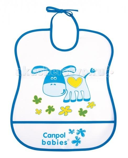 Нагрудник Canpol пластиковый мягкий 2/919