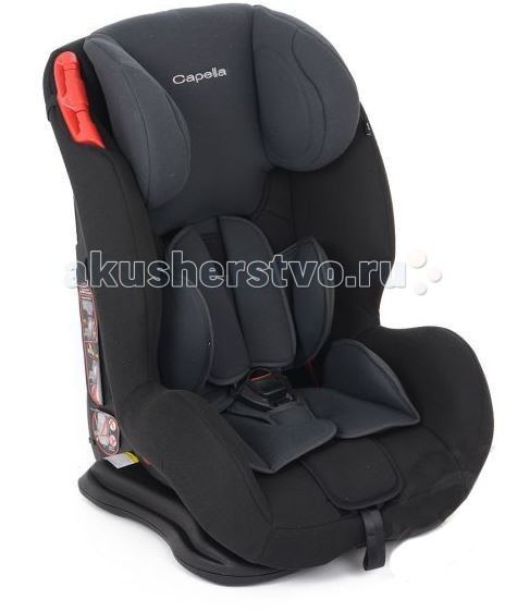 Автокресло Capella S12310S12310Автокресло Capella S12310 рекомендовано для перевозки детей в возрасте от 12 месяцев до 12 лет, весовой категории 9-36 кг.  Устанавливается с помощью штатных ремней безопасности, лицом по направлению движения транспортного средства.  Ребенок в кресле фиксируется пятиточечными ремнями безопасности, а когда ремни окажутся для него короткими, их возможно снять - в этом случае, крепление автокресла производится вместе с ребенком.  Регулируемая спинка (4 положения) позволяет выбрать наиболее комфортное и удобное положение для отдыха и сна маленького пассажира, а подголовник, имеющий 5 положений регулировки по высоте, возможно подстроить под рост вашего ребенка.  Тканевая обивка выполнена из материалов высокого качества.  При необходимости снимается для чистки или стирки при температуре 30 С.<br>
