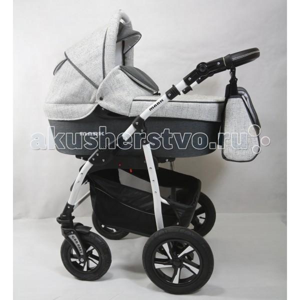 Коляска Car-Baby Mark Ecco 3 в 1Mark Ecco 3 в 1Детская коляска Car Baby Mark Ecco Koc - это современная многофункциональная коляска 3 в 1 с дополнительной амортизацией и полным набором всех необходимых регулировок и функций для комфортных прогулок в любое время года!  Характеристики детской коляски Car Baby Mark Ecco Koc 3 в 1: высокая проходимость за городом + улучшенная маневренность в городе внешняя износостойкая обивка в классическом стиле установка каждого модуля на шасси менее, чем за 1 минуту.  Шасси: надувные колеса пара передних колес — «движение только прямо» или «поворот на 360 &#186;» задние большие колеса ручка управления с высококачественной обшивкой из эко-кожи сложение по типу книжки очень вместительная багажная корзина.  Люлька: капюшон с объемным козырьком и ручкой для переноски окно для наблюдения закрывается тканевым клапаном возможность открыть в капюшоне отсек для проветривания экологичная внутренняя обшивка и матрасик высокий ветронепродуваемый борт полностью закрывает ребенка от непогоды.  Прогулочное сиденье: установка лицом «от себя» или «к себе» регулировка наклона спинки одной рукой опора для ног имеет несколько позиций бампер с разделителем ножек страховочные пятиточечные ремешки с тканевыми накладками по всей длине многопозиционный капюшон.  Автокресло: группа 0 +, для детей с рождения до годовалого возраста допустимая масса тела младенца — до 13 кг эластичный капор мягкий вкладыш с системой страховочных ремешков накидка из плотного материала на ножки.  В комплекте: практичная сумочка для мамы накидка-чехол на ноги сетка от насекомых дождевик.  Размеры коляски: Внутренний размер люльки (ДхШхГ) : 78х35х23 см. Ширина колесной базы: 61 см. Вес: 14 кг.<br>