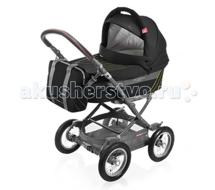 Коляска Espiro Modena 2 в 1Modena 2 в 1Детская коляска Espiro Modena – это многофункциональная транспортная система, обеспечивающая комфорт и безопасность на прогулках с Вашим ребенком. Прекрасная амортизация и большие надувные колеса с подшипниками обеспечивают высокую проходимость и мягкую езду по неровностям. Сон ребенка будет таким же крепким, как будто бы он спит в детской кроватке.   Просторная люлька с вентилируемым окошком, отличная циркуляция воздуха. Коляска Espiro Modena объединяет все, что необходимо на ежедневных прогулках на свежем воздухе с ребенком.  Рама: Легкая алюминиевая рама складывается книжкой Большие 12 дюймовые надувные колеса на подшипниках Колеса быстросъемные Быстрая установка люльки или прогулочного блока, снимается/устанавливается одним нажатием руки Система от самопроизвольного складывания Тормозная система на задние колеса Регулируемая по высоте ручка, обшита эко-кожей Возможность установки на шасси коляски автокресла группы 0+ Maxi Cosi (не входит в комплектацию)  Люлька: Большая люлька с ручкой для переноски Удобный механизм крепления люльки Регулируемый подголовник Внутренняя обивка из натурального хлопка Большой регулируемый капюшон Вентиляционное окошко из сеточки Дополнительный козырек от солнца  Прогулочный блок: Установка модуля в любом направлении движения коляски 3 положения регулировки спинки сиденья Горизонтальное положения для сна Регулируемая подножка Съемная перекладина перед ребенком с мягкой обивкой 5-точечные ремни безопасности с мягкими накладками на плечи Большой регулируемый капюшон Смотровое окошко и дополнительный козырек от солнца  В комплекте: рама, колеса, люлька, прогулочный блок, чехол на ножки, сумка для мамы, дождевик, накидка на люльку, матрасик в люльку, насос.<br>