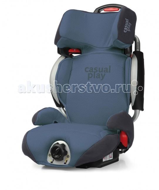 Автокресло Casualplay ProtectorProtectorДетское автокресло серии Protector с ярким спортивным дизайном.  Группа 1-2-3 (15-36 кг). Обеспечит ребёнку максимальную безопасность и комфорт благодаря своим исключительным характеристикам.  Возможность плавной регулировки угла наклона спинки (от 5 до 35°) и плавной регулировки подушки сиденья вперёд-назад (+/- 5 см) позволяет выбрать для ребёнка наиболее удобное и безопасное положение во время бодрствования и сна.  Полностью съёмная обивка легко чистится от небольших загрязнений при помощи пылесоса или щётки. При сильном загрязнении рекомендуется щадящая машинная стирка при 30°C.  Характеристики: Алюминиевая конструкция, усиленная по бокам, отлично защищает ребёнка при аварии и поглощает энергию удара. Изменяющийся угол наклона спинки позволяет выбрать для ребёнка наиболее удобное положение, соответствующее его росту. Подушка сиденья и спинка регулируются одной рукояткой с переключателем. Очень удобно пользоваться, особенно в движении. Легко устанавливается в автомобиль при помощи ремней безопасности. Регулируемый по высоте подголовник (5 позиций) с усиленной боковой защитой.  Детское автомобильное кресло соответствует нормативу ECER44/04 для Группы 1-2-3 (15-36 кг).  Вес: 6,9 кг Высота: 84 см Ширина: 42 см Длина: 45 см<br>