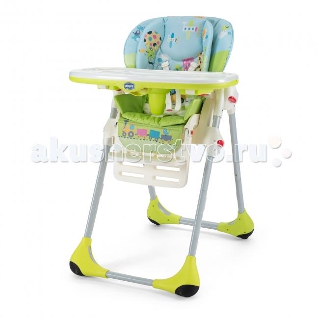 Стульчик для кормления Chicco PollyPollyСтульчик Chicco Polly 2в 1— это единственный стульчик для детей, который следует заростом ребенка от5месяцев до3лет. Вначальный период использования Polly— это надежный, уютный, удобный икомфортный стульчик, идеальный для момента отнятия отгруди. При разработке стульчиков Chicco Polly активное участие принимали детские эксперты, педиатры, атакже мамы. Длительные исследования привели ктому, что стульчики Chicco Polly обладают уникальными характеристиками, которые учитывают особенности развития ребенка вкаждой фазе.  Характеристики иособенности стульчиков: Абсолютно безопасен. Регулируемый 5-точечный ремешок безопасности регулируется поширине ивысоте. Прочные ремешки инадежный безопасный замок удержат ребенка, даже если онуснет. Изготовлен изнетоксичных гипоаллергенных материалов. Регулируемая спинка сиденья позволит создать максимальный комфорт для ребенка. Идеальное решение идля кормления, идля игры, идля сна (существует 3положения, втом числе илежачее). Жесткий упор для ножек. Регулируемая подножка может иметь три положения повысоте (всегда следует заростом ребенка). Широкий удобный съемный двойной поднос идеален для игры икормления. Легко снимается нажатием одной кнопки, недосягаемой для ребенка. Дополнительная защита отвыскальзывания ребенка вниз. Может устанавливаться втрех положениях. Стульчик всегда находится нанужной высоте, которая позволяет установить стул в7-ми положениях. Стульчик обладает эргономичной рамой икомфортабельным сиденьем. Съемный вкладыш сдвойной набивкой, мягкий иоблегающий, обеспечивает оптимальную поддержку ребенку. Двойные мягкие сиденья стульчиков Chicco Polly обеспечат комфорт, акогда ребенок научится есть самостоятельно, можно убрать вкладыш снабивкой, прикрепить столик иPOLLY превратиться впервый стульчик малыша, позволяющий ему сидеть застолом вместе сродителями иделить сними этот важный момент. Стульчик всегда будет поразмеру Вашему ребенку! Кнопки регулировки искладывания «Easy Touch» легко д