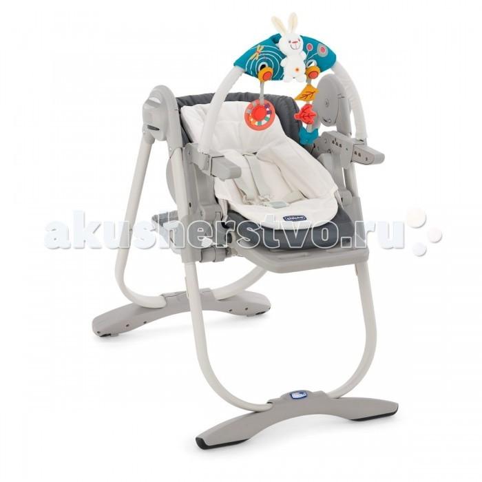Стульчик для кормления Chicco Polly MagicPolly MagicChicco Polly Magic - это многофункциональный детский стульчик с рождения от Chicco! Детский стульчик-трансформер Magic с устойчивым основанием для детей от рождения до 3 лет. Для детей до 6 месяцев он используется как стульчик для новорожденного: регулируемая спинка позволяет разместить ребенка в положении полулежа и установить дугу с разноцветными игрушками. Для детей от 6 до 12 месяцев используется как обычный стульчик для кормления со съемным столиком. Для детей от года до 3 лет Magic используется как детский стул, без столика для кормления, придвинув его к столу для взрослых.  Характеристики Chicco Polly MAGIC:  5-ти точечные регулируемые ремни безопасности  регулируемая высота стула в 6-ти положениях  регулируемый наклон спинки в 3-х положениях до горизонтального  эргономичная форма сидения  съемный вкладыш с набивкой для новорожденных  регулируемая подножка в 3-х положениях по высоте  съемный верхний поднос для удобства кормления  вместительная корзина для детских принадлежностей  кнопки регулировки и складывания «Easy Touch»  компактный размер в сложенном состоянии  тканевые детали снимаются для чистки  Вес: 12,5 кг Размер (в&#215;д&#215;ш): 104,5&#215;55&#215;85 см  Размер в сложенном состоянии: 100&#215;55&#215;27 см  Примечание: На спинке стульчика нет крепелений для подвешивания столика<br>