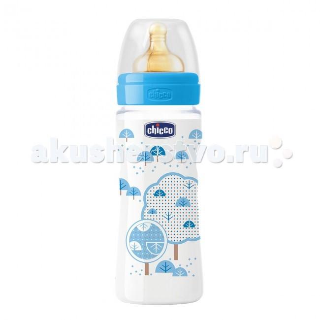 Бутылочка Chicco Wellbeing 330 мл латекс для каш