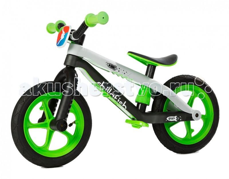 Беговел Chillafish BMXieBMXieБеговел в стиле трюкового Chillafish BMXie - самый яркий и легкий детский беговел от бельгийской компании Chillafish, выполненный в стиле настоящего усиленного трюкового велосипеда BMX. Сходство с велосипедами вида BMX достигается за счет руля и двойной рамы.  Рама выполнена из армированного стекловолокна, что дает большую легкость и надежность.  Колеса у беговела - надувные, что также добавляет сходства и делает его настоящим велосипедом без педалей - для маленьких гонщиков. Сиденье регулируется без ключа. Это значит, что можно на прогулке в любой момент отрегулировать его под свои пожелания.  Еще важный момент: подножка у беговела BMXie - складная, что удобно, поскольку когда не нужно, то ее можно убрать. Заслуживает внимания яркий зрелищный дизайн беговела, который подчеркивает его скоростные качества и поднимает настроение.  На что хочется обратить внимание, так это на надежность детского беговела при достаточно малом весе. Всего 3,8 килограмма при наличии надувных колес и двойной рамы.  Особенности: Соответствует европейским стандартам качества EN71, ASTM F963 Сходство с настоящими трюковыми велосипедами Очень легкий для беговела с надувными колесами Яркий, зрелищный дизайн от бельгийской компании Chillafish Надежная конструкция из армированного стекловолокна Надувные колеса с яркими ободами Сиденье регулируется без специального ключа Складная подножка Габариты товара (Д х Ш х В) - 68 см х 17 см х 30 см; Яркая табличка с логотипом Chillafish спереди диаметр колес - 12; вес товара в упаковке - 4.7 кг; Размер (дхшхв) 70х37х64 см<br>