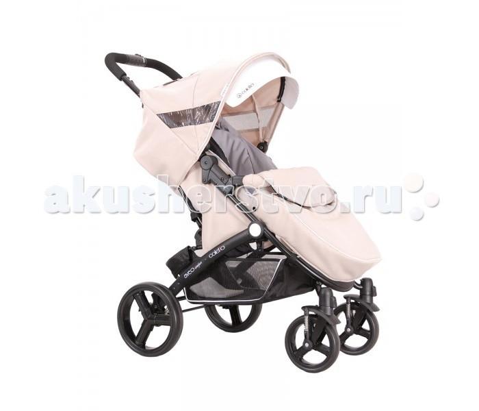 Прогулочная коляска Coletto AveoAveoДетская коляска Coletto Aveo предназначена для детей от 6 месяцев до 3 лет (15 кг). Каркас коляски выполнен из прочного и легкого алюминия. Колеса легко и просто снимаются. Передние колеса оснащены удобной функцией поворота на 360 гр, с возможностью блокировки.    Особенности: Ручка для родителей регулируется по высоте. Спинка коляски регулируется в 4-х положениях. Прогулочный блок оснащен 5-титочечным ремнем, и ограничителем между ножек. Поручень (бампер) коляски оббит мягкой тканей, легко устанавливается и снимается. Регулируемая подножка коляски. Рама коляски легко складывается, и фиксируется (помещается в любой багажник). Большая и вместительная корзина для подручных предметов.    В комплекте идет: накидка на ножки (утепленная), дождевик  Технические характеристики: размеры сложной конструкции:(длина/высота/ширина) 59/84/32 см размеры спинки: (ш/в) 33/43 см размеры сиденья: (ширина/высота) 33/22 см размеры подножки: (высота/ширина): 16/35 см диаметр передних колес: 18 см диаметр задних колес: 25 см колея задних колес: (разм. внеш.) 59 см вес коляски: 10 кг<br>