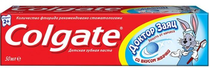 Colgate Детская зубная паста 50 мл Доктор ЗаяцДетская зубная паста 50 мл Доктор ЗаяцДетская  зубная паста 50мл Доктор Заяц Colgate Малышей бывает сложно уговорить чистить зубы, поэтому родители идут на любые ухищрения, чтобы привить детям эту полезную привычку. В этом может помочь новая зубная паста Colgate Доктор Заяц со вкусом жвачки или клубники. Чистить зубы такой зубной пастой не только приятно, но и полезно.  Эта гелевая зубная паста специально разработана для малышей старше 2 лет.  Безопасное количество фтора в зубной пасте оптимально подходит для эффективного ухода за детскими зубками Уникальная формула помогает защитить зубы от кариеса Вкус клубники или жвачки определенно понравится вашему малышу, и он будет с удовольствием чистить зубы утром и вечером!<br>
