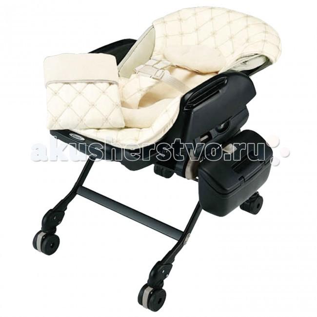 Колыбель Combi Fealetto Auto Swing электронная + стульчик - Black