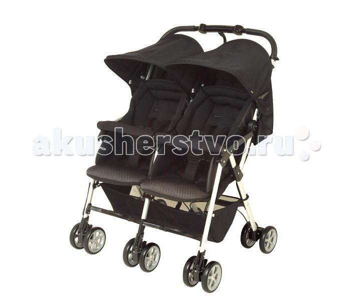 Combi Прогулочная коляска для двойни Spazio DuoПрогулочная коляска для двойни Spazio DuoКорпорация Combi выпустила новые прогулочные коляски для двойни под названием «Spazio Duo», которые подойдут как двойняшкам, так и погодкам. Самые счастливые минуты в жизни каждой семьи - это ожидание появления малыша. Но вместе с приятными заботами на молодых родителей сваливаются много небольших, но очень важных хлопот, и особенно на не совсем подготовленных для этого пап. Ведь будущие мамы готовятся в роддом, а покупать что либо до рождения ребенка как-то не принято многими родителями.  Прогулочный блок :  предназначена для ребенка с рождения и до 3 лет благодаря отличной вентиляционной системе, Ваши малыши чувствует себя отлично даже в жаркую погоду сидения коляски сделаны из 3D дышащих материалов для изготовления покрытия для сиденья и сна используются специальные влагоотводящие и теплоотводящие материалы независимая регулировка сиденья. Каждое сиденье может быть отрегулировано индивидуально под ребенка большое удобное ложе. Длинные и широкие сиденья обеспечат малышам дополнительный комфорт при поездке сиденья откидываются на 170°. В одно касание сиденья можно перевести из вертикального положения в горизонтальное 5 - точечные ремни безопасности, обеспечат максимальную безопасность вашему малышу олнцезащитный капор надежно защищает Вашего малыша от вредного ультрафиолета (до 96%) и непогоды  Ручка:  ручка коляски сконструирована таким образом, чтобы обеспечить максимальный комфорт для родителей, обеспечивая полный шаг без опасения споткнуться о коляску  Колеса:  двойные колеса великолепно сглаживают неровности дороги, и оказывают амортизационный эффект колеса поглощают вибрацию от дороги. Все шесть колес обладают функцией поглощения вибрации от неровности дороги легкая блокировка колес. Одно нажатие на стопор центрального заднего колеса блокирует все задние колеса износостойкое покрытие колес  Шасси:  прочная, легкая рама удобный принцип складывания. Коляска легко и быстро ск