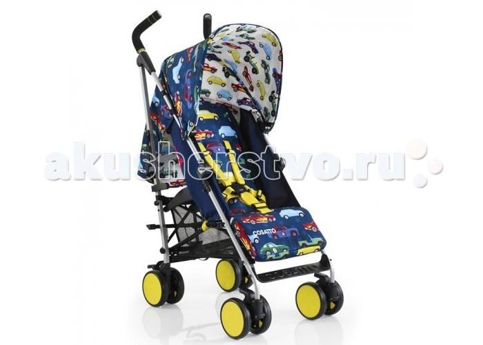 Прогулочная коляска Cosatto Supa Go StrollerSupa Go StrollerНевероятно стильная и функциональная коляска SUPA GO от COSATTO - идеальный вариант для ежедневных прогулок с ребенком.  Бесшумные вращающиеся передние колеса позволяют легко и аккуратно управлять коляской.  В капюшоне есть смотровое окошко.  Характеристики: Для детей с рождения Регулировка позиций спинки одной рукой, включая горизонтальное положение Регулируемая высота ручек Легкое алюминиевое шасси с рукояткой для переноски Регулируемая подставка для ножек Полностью раскладывающийся защитный капюшон, петли для игрушек на капюшоне Поворотные передние колеса с фиксаторами Вместительная корзина Возможность стоять в сложенном состоянии без дополнительной опоры Полностью съемные чехлы, которые можно стирать В комплекте: дождевик  Размеры: Размеры (В х Ш х Д), см: 109 х 46 х 78 Размеры в сложенном состоянии (Д х Ш х В), см: 104 х 27 х 35 Сиденье (Ш х Г), см: 32 х 17,5 Глубина сиденья с поднятой подножкой: 34 см Длина спального места: 81 см Длина спинки: 47 см Высота ручки, см: 101-104 Диаметр колес: 14 см Внешнее расстояние между задними колесами: 45 см Внешнее расстояние меежду передними колесами: 48 см Вес: 8 кг<br>