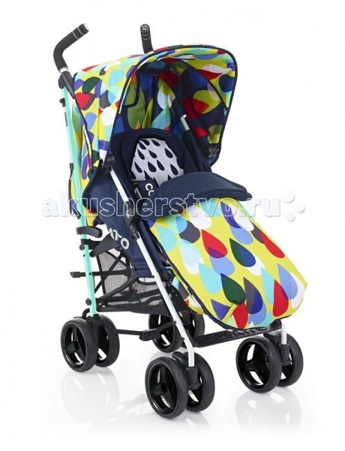 Коляска-трость Cosatto Too&amp;FroToo&amp;FroКоляска-трость Cosatto Too&Fro  Благодаря раскладывающейся на 180 градусов спинке и регулируемой подножке, коляску-трость Cossato Too&Fro можно использовать с самого рождения малыша. На коляску Cossato Too&Fro можно установить автокресло-переноску группы 0+ Hold Car Seat.  Коляска оборудована пятиточечными ремнями безопасности с мягкими накладками, большим капюшоном и теплым чехлом на ножки, который можно использовать как конверт. Коляска легкая и маневренная, а большие колеса обеспечивают ей отличную проходимость.  Особенности: Подходит для детей с рождения Легкое алюминиевое шасси с рукояткой для переноски Регулируемая высота ручек Полностью раскладывающийся защитный капюшон, петли для игрушек на капюшоне Регулировка позиции спинки одной рукой, в том числе горизонтальное положение Подстаканник Регулируемая подставка для ножек Просторная корзина хранения Возможность стоять в сложенном состоянии без дополнительной опоры Полностью съемный чехлы, который можно стирать Блокировка передних колес Большие сдвоенные колеса Возможно установить автокресло-переноску группы 0+ Hold Car Seat  Вес и габариты: Вес: 12 кг  Размеры в собранном виде:длина: 110 см ширина: 50 cм высота: 74cм Размеры в сложенном виде: длина: 106 см ширина: 30 cм высота: 32 cм  Высота ручки: 110-133 см  Комплектация: Чехол, изменяемый в 4 вариантах расцветки для ножек, с муфтой для ручек и флисовой вкладкой на застежке Дождевик<br>