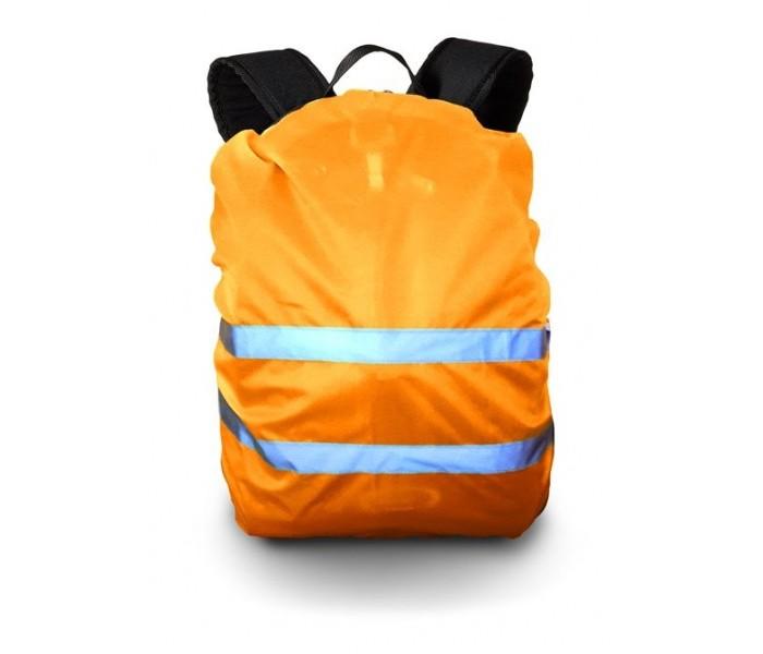 Cova Чехол сигнальный на рюкзак со световозвращающими лентами объем 20-40 лЧехол сигнальный на рюкзак со световозвращающими лентами объем 20-40 лЧехол сигнальный на рюкзак со световозвращающими лентами объем 20-40 л   Предназначен для увеличения видимости объектов в ночное время суток и условиях недостаточной видимости (дождь, туман, снегопад и пр.) в свете автомобильных фар и любого источника света.<br>