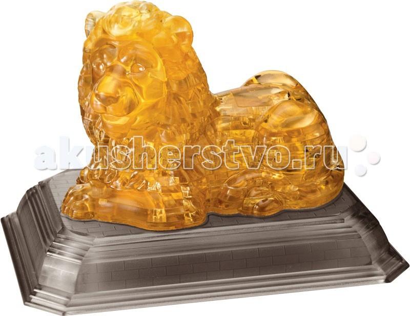 Crystal Puzzle Головоломка ЛевГоловоломка ЛевГоловоломка CRYSTAL PUZZLE 91005 Лев.  Трехмерная головоломка ЛЕВ из серии CRYSTAL PUZZLE. Всего в наборе 97 прозрачных пластиковых деталей, из которых можно собрать красивого льва золотого цвета на подставке. Фигурка безусловно украсит любой интерьер и станет отличным подарком для самых близких. Пазл имеет 4-й уровень сложности.3D головоломка Лев - это многофункциональный тренажер, стимулирующий одновременно логику, пространственное мышление и мелкую моторику рук. Головоломка еще и прекрасный антистресс, помогающий отвлечься от суеты или скоротать время в ожидании.  Детали головоломки собираются вместе без клея. В процессе сборки нужно расположить детали головоломки в правильном порядке. Когда фигура будет готова, вставьте последний элемент, и части крепко зафиксируются. В комплекте с головоломкой вы получите инструкцию. Если потребуется решение, загляните в инструкцию: у каждой детали есть номер, и с помощью указаний вы сможете найти ответ.<br>