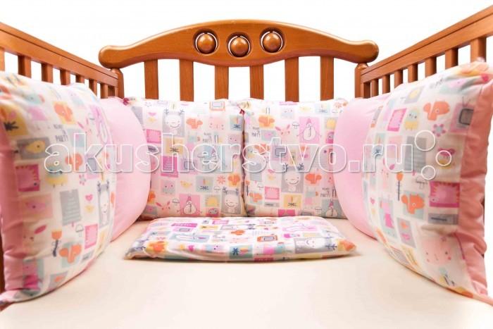Бампер для кроватки Daisy Комплект подушек для бампера Мультяшки 2 шт.