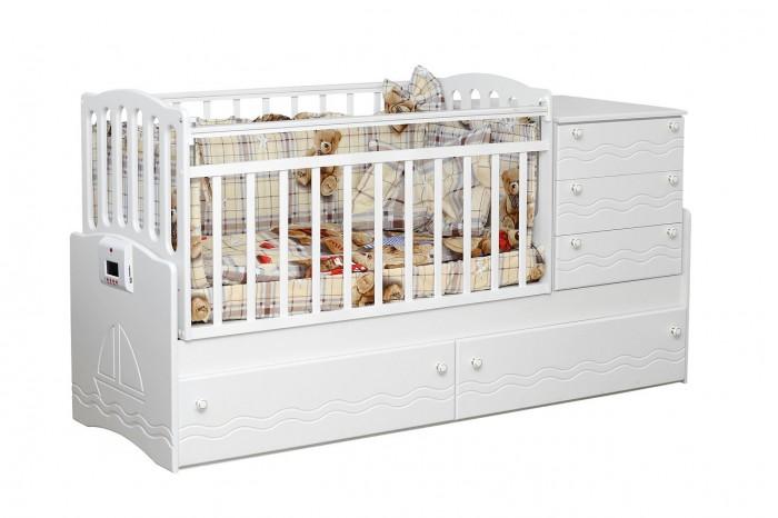 Кроватка-трансформер Daka Baby 03 (поперечный маятник)