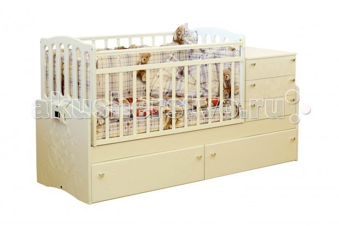 Кроватка-трансформер Daka Baby Укачай-ка 03 (поперечный маятник)