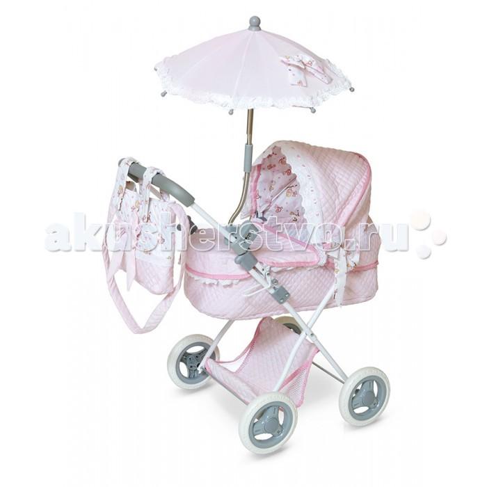 Коляска для куклы DeCuevas с сумкой Романтик 65 см 85030