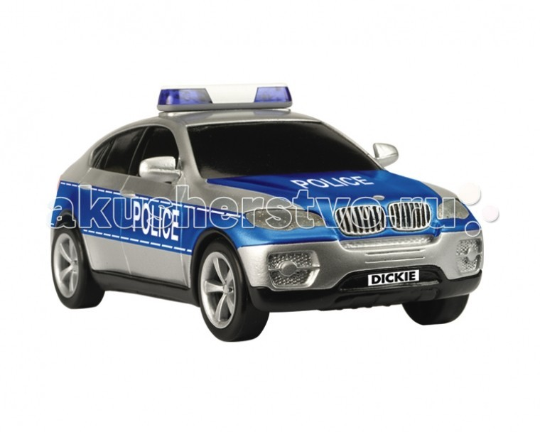 Dickie Полицейская машина SOSПолицейская машина SOSПолицейская машина Dickie SOS   Ребенок может выбрать на какой машине он будет ездить в роли полицейского: на BMW, AUDI или Ниссане.    Особенности:    Фрикционный автомобиль  Выполнен в масштабе 1:24  Машина оснащена звуковыми и световыми эффектами, что несомненно придаст еще больше интереса к игре   Для работы необходимы батарейки, которые входят в комплект   Размер: 20 см<br>