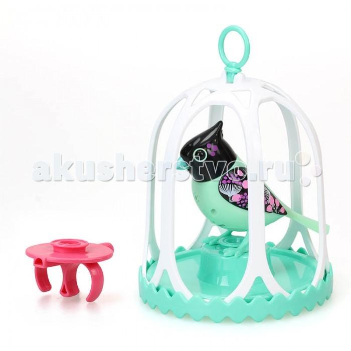 Интерактивная игрушка Digibirds Птичка с большой клеткой и кольцом