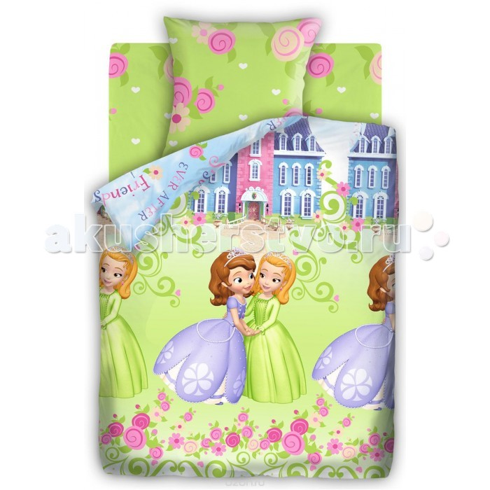 Постельное белье Непоседа Disney София Прекрасная 1.5-спальное (3 предмета)Disney София Прекрасная 1.5-спальное (3 предмета)Постельное белье Disney София Прекрасная 1.5-спальное (3 предмета) несомненно порадует каждого ребенка!  Комплект постельного белья изготовлен из бязи, плотностью 115-120 г/м2 (100% хлопок), с использованием нелиняющих натуральных красителей. Бязь – это плотная хлопчатобумажная ткань полотняного переплетения. Она прочная и износоустойчивая, легко стирается и гладится, обладает отличной воздухонепроницаемостью.  Рекомендации по уходу: Постельное белье следует стирать при температуре 40 градусов; Наволочки и пододеяльники следует стирать вывернутыми на изнаночную сторону; Отжим в режиме 600 об/мин.; Гладить при низкой и средней температуре; Не использовать отбеливатели.  В комплекте: Пододеяльник 143&#215;215 см — 1 шт. Простынь 150&#215;214 см — 1 шт. Наволочка 70&#215;70 см — 1 шт.<br>