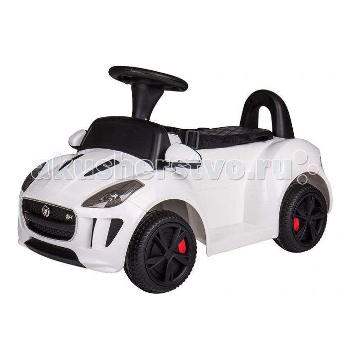 Электромобиль Dongma Jaguar F-TypeJaguar F-TypeDongma Электромобиль Jaguar F-Type— электроминикар, оснащенный всем необходимым, чтобы малыш почувствовал себя настоящим водителем. Несколько скоростей, ремень безопасности, звуковые эффекты, светодиодные огни — автомобиль несомненно порадует маленького Шумахера и не даст ему заскучать.  Характеристики: Изготовлен из высококачественного ударопрочного пластика Колеса из пластика с резиновой накладкой Одно посадочное место Ремень безопасности Запуск двигателя кнопкой Амортизаторы на задней оси Светодиодные передние фары Несколько скоростей: 3 — вперед, 1 назад (максимальная — 3 км/ч) Звуковые эффекты Разъем и провод для МР3-устройств: можно слушать музыку Пульт дистанционного управления типа Bluetooth Источник питания — батарея напряжением 6V (работает 70-80 минут) Источник питания для пульта — 2 батарейки типа ААА Максимальный вес ребенка: 30 кг<br>