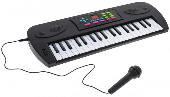 Музыкальная игрушка DoReMi Синтезатор D-00024(SD981A) 37 клавишСинтезатор D-00024(SD981A) 37 клавишDoReMi Синтезатор D-00024(SD981A) 37 клавиш привлечет внимание вашего ребенка и доставит ему много удовольствия от часов, посвященных игре с ним.  Особенности: Синтезатор оснащен регулятором громкости, благодаря которым вы не потревожите и домочадцев даже самых привередливых соседей, громкими звуками. Игра на музыкальных инструментах способствует развитию слуха и чувства ритма. 16 звуков электронных инструментов,  16 темпов ритма, 4 звука электронной барабанной установки,  6 песен,  запись/воспроизведение,  16ти кратное увеличение громкости, 32х кратное увеличение темпа,  Автоматическое выключение,  Выносной микрофон.<br>