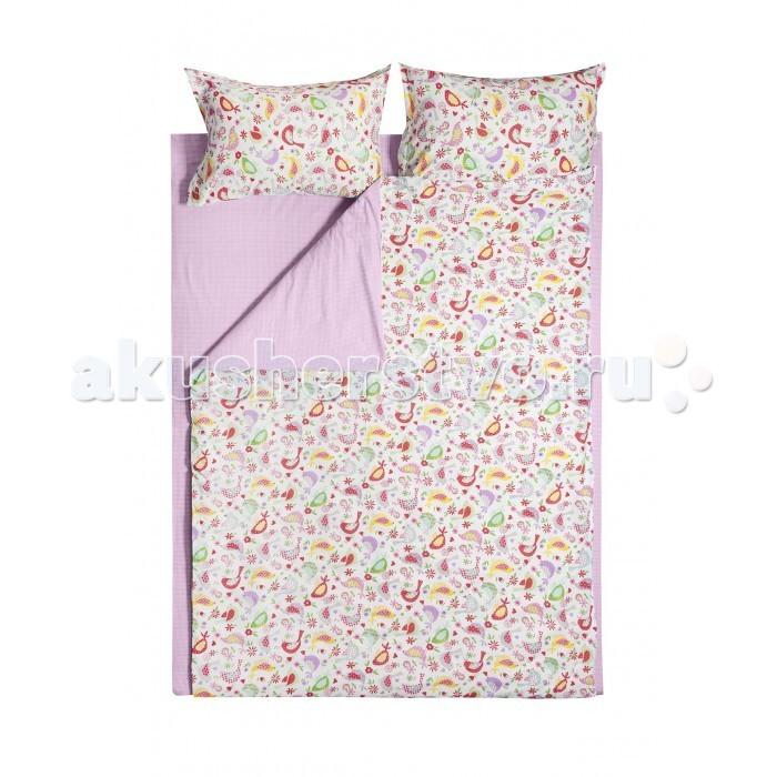Постельное белье Dream Time Птички (4 предмета)Птички (4 предмета)Постельное белье Dream Time Птички - это 1.5-спальный комплект постельного белья, который отвечает самым высоким стандартам качества.  Особенности: Изделия не вызывают аллергический реакций, для них используется 100% хлопок (бязь) и импортные красители Яркая цветовая гамма, современные, стильные и подходящие расцветки для мальчиков и для девочек Долговечное, прочное и износостойкое постельное белье  Размеры: Пододеяльник: 215х145 см Простыня: 235х150 см  Наволочки 2 шт: 50х70 см  Рекомендации по уходу: Постельное белье следует стирать при температуре 40 градусов Наволочки и пододеяльники следует стирать вывернутыми на изнаночную сторону Отжим в режиме 600 об/мин. Гладить при низкой и средней температуре Не использовать отбеливатели<br>