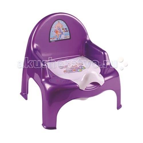 Горшок Dunya Plastik Ниш креслоPlastik Ниш креслоУстойчивый и удобный стульчик сделает процесс приучения ребенка к горшку быстрым и комфортным. Украшен забавными наклейками  Внутренняя часть горшка легко вынимается и моется отдельно.  Горшок-стульчик имеет эргономичный дизайн, имеются удобные подлокотники.  Размер: 320 x 275 x 340 мм  Материал: нетоксичный пластик.<br>