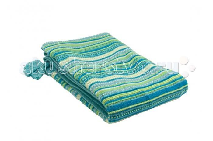 Плед Dushi вязаный в стиле Этно 80х110 смвязаный в стиле Этно 80х110 смВязаный плед в стиле Этно 80х110 см. По углам плед украшают милые кисточки. Свернут в рулончик и перевязан фирменной лентой Dushi (Дюши).  Этот плед идеально подойдет в качестве одеяла для кроватки вашей крохи.  Его нежная расцветка украсит любую детскую комнату.  Пледик также может пригодиться на прогулке в холодное время года.  Он убережет ребенка от ветра, не даст ему замерзнуть.  Состав - 100% хлопок (х/б трикотаж). Отличное качество! Сертификат Oeko-Tex.<br>