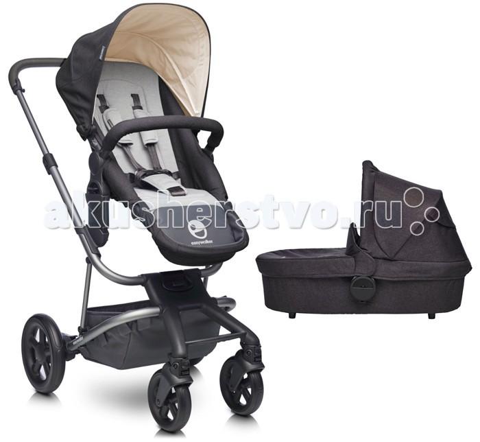 Коляска EasyWalker Harvey 2 в 1Harvey 2 в 1Коляска EasyWalker Harvey 2 в 1 - это первая раздвижная детская коляска, которая растет вместе с семьей.   Особенности: Сначала это стильная, легкая и компактная коляска для одного ребенка, но с появлением второго ребенка, Harvey может быть нарощена с помощью простой оси-адаптера, чтобы стать коляской-тандемом. Вы можете сочетать вместе сиденье и люльку, автокресло и сиденье, два места в любой другой желаемой комбинации на одной базе. Harvey - коляска, которая обеспечит наилучшее решение для каждой новой стадии Вашей семьи. Использование алюминия высокого качества, который также используются в авиационной промышленности, обеспечило коляске EasyWalker Harvey легкий вес всего 11,4 кг (включая раму (8 кг), прогулочный блок, капор, бампер и корзину для хранения), тем самым сделав её простой в уходе и хранении. Вы можете отрегулировать люльку и сиденье по высоте, используя специальные адаптеры. Это дает Вам возможность быть ближе к Вашему ребенку, меньше нагибаться, усаживая ребенка, или просто для того чтобы иногда пообедать за одним столом, гуляя по городу.  Стильная телескопическая ручка, обшитая высококачественной искусственной кожей, - регулируется под Ваш рост. В позиции тандема, старший ребенок, сидящий в прогулочном блоке на нижнем ярусе, может легко самостоятельно усаживаться в него и так же легко вылезать. Колеса у Harvey заполнены твердой пеной, что делает их прочными и легкими, а коляску устойчивой. Вы можете легко катить или поворачивать коляску, управляя одной рукой, и получать от этого удовольствие даже в условиях ограниченного пространства и на извилистых дорогах. Благодаря системе подшипников колес и амортизации на каждом переднем и заднем колесе, Вашему ребенку будет максимально комфортно сидеть или спать, независимо от поверхности дороги, местности, где бы Вы не решили оказаться. Передние колеса можно зафиксировать блокиратором вращения для прямой езды. Тормоз задних колес ( связывающий правое и левое колесо).