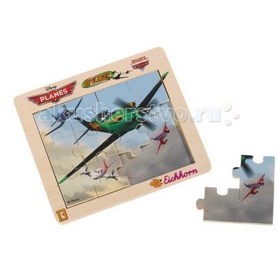 Eichhorn Пазл Самолеты 12 деталейПазл Самолеты 12 деталейПазл Eichhorn Самолеты 12 деталей  Элементы пазла изготовлены из натурального дерева с изображением героев мультфильма. На каждом элементе есть пластиковый держатель.   Игры с пазлом тренируют память, логическое мышление, наблюдательность, развивают усидчивость и мелкую моторику.  Размер: 19.5 х 17 см<br>