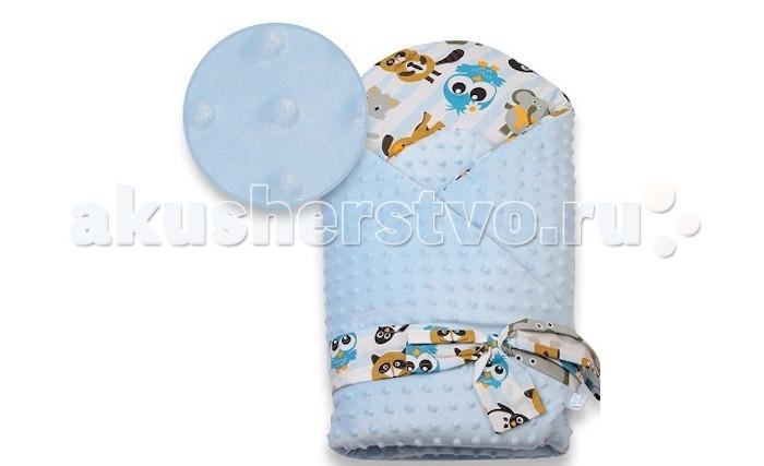 Демисезонный конверт Eko Плед для новорожденных Minky c бантом 75х75
