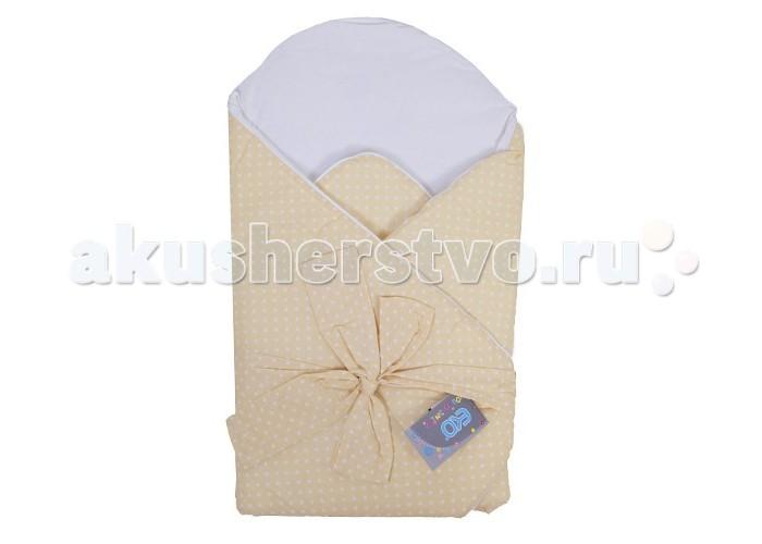Демисезонный конверт Eko Плед для новорожденных сатиновый с бантом 75x75