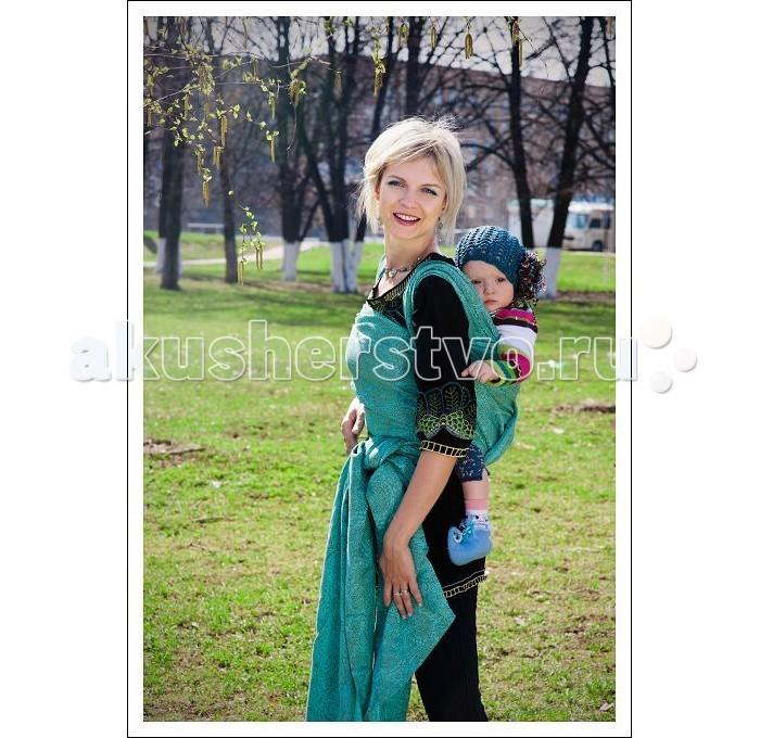 Слинг Ellevill Paisley шарф, бамбук-лен (4.2 м)