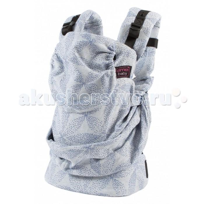 Рюкзак-кенгуру Emeibaby SoBaaliSoBaaliEmeibaby Слинг-рюкзак SoBaali  Emeibaby является гибридом слинга и эргономичного рюкзака. Он объединяет в себе преимущества слинга с простотой использования рюкзака. Emeibaby придуман мамой, которая оценив преимущества слинга, не хотела отказываться от него со своей маленькой дочкой, но, в то же время, хотела упростить процесс использования. Она много экспериментировала. И, наконец, придумала альтернативу - emeibaby – слинг для малыша и рюкзак для родителя. И никаких намоток и узлов!  Рюкзак пропорционально распределяет нагрузку для родителя за счет широких набивных лямок и поясного ремня. Поясной ремень широкий и удобный. Носить малыша комфортно не только на бедрах, но и на талии и выше.  Этот эрго-рюкзак идеально подходит малышам вне зависимости от его роста и размера! Ткань слинга оптимально регулируется таким образом, что края всегда находятся под коленками малыша!! Слинговая часть emeibaby обеспечивает равномерное натяжение по спинке и правильное разведение ножек. Cлинг двойного шарфового плетения Girasol (Германия) надежно фиксирует регулировку при помощи колец. В верхней «рюкзачной» части изделия спрятан подголовник, который можно использовать как валик под голову, для не подросшего малыша. Подголовник несъемный и предназначен для фиксации головы ребенка во время сна. Лямки рюкзака широкие, средней плотности. Предназначены только для параллельного ношения. Лямки регулируются в двух направлениях: снизу и сверху лямки.  Характеристики: Emeibaby подходит для малышей от полутора – 2 мес и до 3 лет. Длина поясного ремня регулируется от примерно от 60 см (XXS) до 150 см (XXL) Шарфовая ткань: Girasol (Германия).  !Важно отметить, что производитель Emeibaby рекомендует данное изделие даже для крох, весом 2,5 кг. Но так как эрго-рюкзак не регулируется по высоте, то спинка изделия может оказаться слишком высокой для не подросшего ребенка. Верхний край должен быть не выше середины затылка, это обеспечивает безопасное ношение и контр