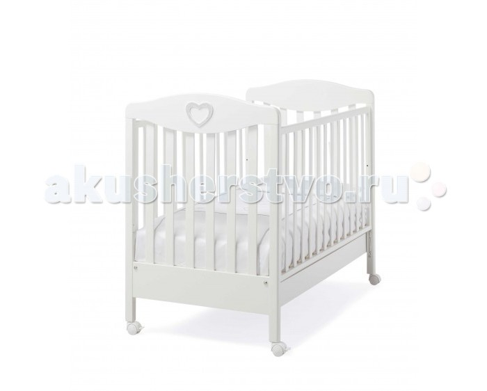 Детская кроватка Erbesi Cuoricino со стразами Swarovski