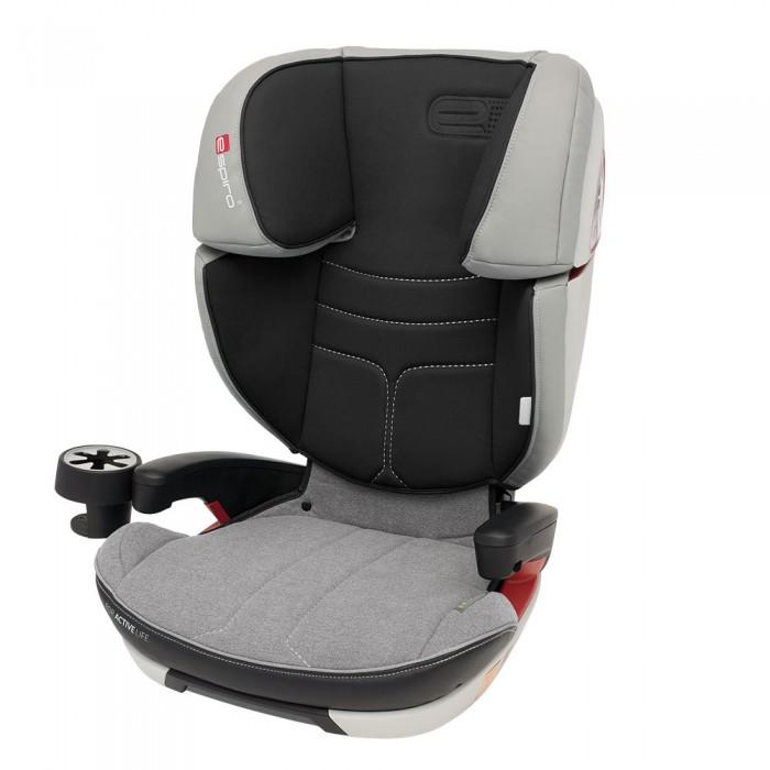 Автокресло Espiro Omega FXOmega FXАвтокресло Espiro Omega FX - безопасное автокресло с системой крепления Isofix.    Комфортное автокресло для детей весовых групп 2 (15-25 кг) и 3 (22-36 кг). Автокресло допущено к эксплуатации на основании соответствия европейской норме ECE R44/04 И производится на предприятии, имеющем сертификат ISO 9001  Двойная защита головы благодаря применению дополнительных слоев энергопоглощающих материалов в подголовнике Широкие боковины автокресла дополнительно защищают плечи и туловище ребенка Система крепления isofix повышает безопасность и устойчивость автокресла, а благодаря регулируемой длине позволяет точно отрегулировать кресло к сиденью автомобиля Регулируемая высота подголовника и спинки - оптимальная регулировка под рост ребенка и вес маленького пассажира Регулировка наклона спинки - комфорт для спящего ребенка, перемешает центр тяжести тела ребенка назад и предотвращает опускание головы во время сна.  Спинка снимается, трансформируя сиденье в бустер. Эргономичные подлокотники Удобный подстаканник  Вес: 7.3 кг<br>