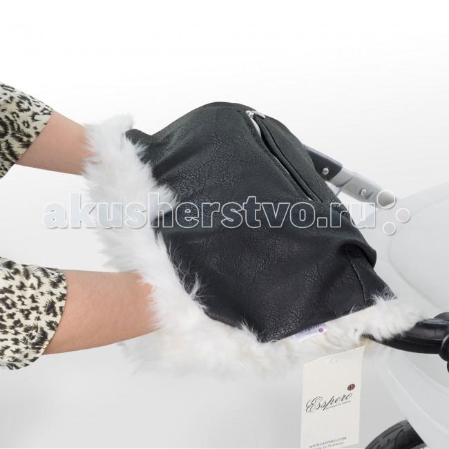 Esspero Муфта для рук Julia (Натуральный мех)Муфта для рук Julia (Натуральный мех)Норвежская компания Esspero создала свой новый шедевр муфту для рук на коляску Julia. Ее натуральный мех по-настоящему согреет Ваши руки в холодные и сырые дни. Верхнее кожаное покрытие обладает водоотталкивающими свойствами, т.е. муфта может также использоваться и в дождливые дни.   Муфта является универсальной и может быть использована в колясках любого типа. Для возможности изменить конфигурацию по своему усмотрению дизайнеры предусмотрели две специальные заклепки.   В верхней части муфты расположен весьма удобный карманчик, в котором Вы можете разместить свой телефон, плеер или иные вещи.  Муфта для рук Esspero Julia - это пожалуй одно из лучших решений для прогулок с малышом в суровых климатических реалиях. Муфта для рук Julia c натуральным плотным мехом согреет ваши руки в самое холодное время года - мех настолько теплый, что можно надеть всего лишь тонкие перчатки. Верхний слой из стеганой шагреневой кожи очень мягкий и нежный на ощупь.<br>