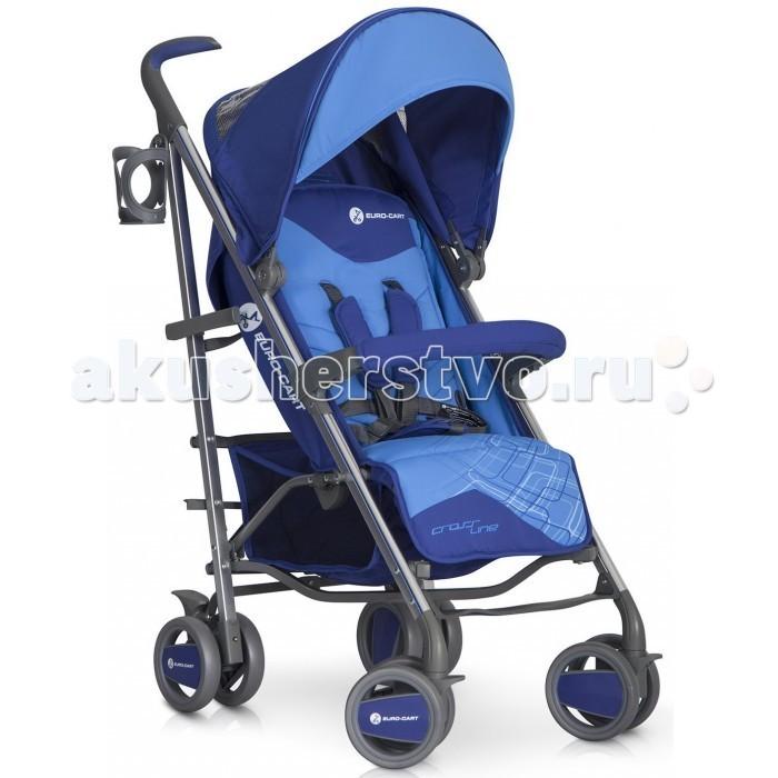 Коляска-трость Euro-Cart CrosslineCrosslineДетская коляска-трость Euro-Cart Crossline оптимально приспособлена под запросы мамы и её чада. Стоит только взглянуть на красочную модель, и можно понять, что она станет идеальным выбором для ребенка. В целом, детская коляска - трость Euro-Cart Crossline выглядит привлекательно и стильно.   Капюшон имеет вентиляционное отверстие, через которое крохе будет поступать свежий воздух. Также капюшон оснащается смотровым окошком и карманом для различных мелочей, куда можно положить всё необходимое. Если говорить о процессе складывания коляски, то нужно отметить, что она складывается и раскладывается довольно просто. Есть специальная ручка, при помощи которой можно переносить коляску с лёгкостью. Колёса спереди являются поворотными и имеют фиксатор для прямой езды. Что является особенно практичным для мамы, ручки оснащаются противоскользящим покрытием.   Характеристики: Система складывания - трость Алюминиевая рама Удлиненный капюшон Безопасный бампер для ребенка 3 положения регулировки спинки 2-ступенчатая регуляция подножки 5-точечные ремни безопасности с мягкими плечевыми накладками Удобная нескользящая ручка Система ускоренной сборки и разборки колес Автоматическая блокировка коляски в сложенном виде для легкого перемещения Окно в капюшоне Карман в задней части капюшона Материал коляски из плотной водонепроницаемой ткани,снимается для стирки  В комплекте: Держатель для бутылочки Утепленный чехол на ножки Дождевик с вентиляционными отверстиями Вместительная корзина для покупок  Размеры: В разобранном с колесами (д/ш/в): 80x52x105 см Сложенные вместе с колесами (д/ш/в): 104x31x41 см Сложенные без колес (д/ш/в): 96x37x30 см Ширина сиденья: 35 см Глубина сиденья: 18 см Высота подголовника: 45 см Длина подножки: 17 см Диаметр колеса: 15 см Вес: 8.5 кг<br>