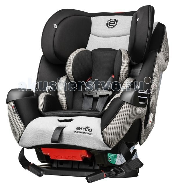 Автокресло Evenflo Symphony LX e3 65Symphony LX e3 65Способы установки Установка против хода движения     - вес ребенка 2,2 - 16 кг. Установка по ходу движения     - вес ребенка 9 - 29,5 кг. Использование в качестве сиденья-бустера     - вес ребенка 13,5 - 45 кг.  Способы фиксации Фиксация штатным ремнем безопасности. Фиксация с помощью системы SureLATCH (ISOFIX).  Основные особенности Техноголия e3 (energy cube): - Увеличение поверхности боковой защиты на 25%. - Трехслойный абсорбент обеспечивает дополнительное гашение энергии удара. SureLATCH - разработка компании Evenflo, не имеющая аналогов на рынке. Обеспечивает исключительное удобство установки. Защелкиваем, нажимаем - и сиденье установлено! Автомобильное кресло все в одном. Используется для детей весом от 2,2 до 45 кг. Infinite Slide Harness - эксклюзивная разработка Evenflo. Теперь плечевые ремни можно зафиксировать в любом положении по высоте. Недоступный ранее уровень комфорта и безопасности! Точная регулировка угла наклона - простота и удобство эксплуатации. Регулируемый по высоте подготовник. Использование внутреннего 5-ти точечного ремня расчитано на вес ребенка до 30 кг. Длина ремней достаточна для комфортного передвижения в зимней одежде. Наличие дополнительного страховочного ремня. Быстросъемный чехол EZ Off - теперь не надо снимать и устанавливать ремни каждый раз, когда требуется постирать чехол. Удобный подстаканник - может устанавливаться справа и слева. Улучшенное качество материалов. Съемная поддерживающая подушка.<br>