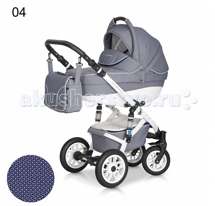 Коляска Expander Essence 2 в 1Essence 2 в 1Коляска Expander Essence 2 в 1  Детская коляска Essence от польского производителя EXPANDERдля детей с рождения до 3-х лет.  Высококачественная модульная коляска в оригинальном стильном дизайне, выполнена на белой облегчённой раме, обладает отменными эксплуатационными качествами и высокой надежностью, гарантирует удобство не только ребенку, но и  родителям.  Коляска Essence укомплектована комфортной люлькой и прогулочным блоком, которые легко устанавливаются на раму, как по ходу, так и против хода движения, т.е. «лицом к маме».  Люлька коляски просторная, обтекаемой формы позволит малышу чувствовать себя комфортно как зимой, так и летом. Бортики люльки дополнительно утеплены изнутри, что защищает малыша от ветра и непогоды во время прогулок. Комфортное и удобное прогулочное сиденье для подросшего малыша предоставит наилучшие условия для увлекательных прогулок и изучения окружающего мира. Для этого спинка сиденья может устанавливаться в нескольких положениях, а подножка регулируется по высоте.  Данная модель очень удобна и маневренна благодаря небольшому весу, всего 15 кг, и ширины колесной базы в 60 см, позволяющей провезти коляску практически в любую дверь или лифт. Коляска оснащена пружинной амортизацией, большими маневренными колесами и надежной алюминиевой рамой. Коляска с такими характеристиками без проблем преодолевает самые разные препятствия на своем пути, не боится снега, дождя и грязи.   Характеристики:  Люлька: Просторная пластиковая люлька с жестким дном  Верхняя часть из водонепроницаемой ткани  Не продуваемые борта  Регулируемый по высоте подголовник  Удобная ручка, расположенная  на капюшоне для переноски, обтянута эко-кожей  Бесшумный механизм регулировки капюшона  Капюшон с открывающейся на молнии секцией, со встроенной москитной сеткой для вентиляции  Дополнительный козырек на капюшоне, который прикроет малыша от ярких солнечных лучей  Высокий отворот на накидке на люльку защитит новорожденного от непогоды