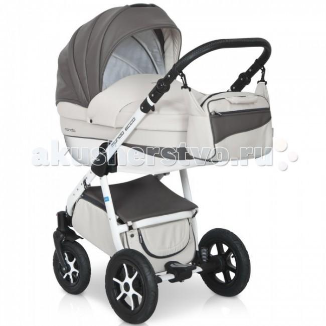Коляска Expander Mondo Ecco 2 в 1Mondo Ecco 2 в 1Детская коляска Mondo Ecco 2в1 от Польского производителя Expander предназначена для детей с рождения и до 3-х лет.  Современная коляска в оригинальном стильном дизайне, обладает отменными эксплуатационными качествами и высокой надежностью, гарантирует удобство не только ребенку, но и родителям.  Коляска Mondo Ecco укомплектована комфортной люлькой и прогулочным блоком, которые легко устанавливаются на раму, как по ходу, так и против хода движения, т.е. «лицом к маме».   Люлька коляски просторная, обтекаемой формы позволит малышу чувствовать себя комфортно как зимой, так и летом. Бортики люльки дополнительно утеплены изнутри, что защищает малыша от ветра и непогоды во время прогулок.  Комфортное и удобное прогулочное сиденье для подросшего малыша предоставит наилучшие условия для увлекательных прогулок и изучения окружающего мира. Для этого спинка сиденья может устанавливаться в нескольких положениях, а подножка регулируется по высоте.  Модель коляски очень удобна и маневренна благодаря небольшому весу, всего 14 кг, и ширины колесной базы в 60 см, позволяющей провезти коляску практически в любую дверь или лифт. Коляска оснащена пружинной амортизацией, большими маневренными колесами и надежной алюминиевой рамой. Коляска с такими характеристиками без проблем преодолевает самые разные препятствия на своем пути, не боится снега, дождя и грязи.  Выполнена коляска на облегчённой алюминиевой раме в белом цвете. Люлька изготовлена из прочного пластика, верхняя часть коляски из экологически чистой морозостойкой эко-кожи, с влагостойкой пропиткой и защитой от солнечных лучей.  Превосходное сочетание дизайна и европейского качества!   Люлька:  • Просторная пластиковая люлька с жестким дном  • Верхняя часть люльки из эко-кожи  • Не продуваемые борта  • Регулируемый по высоте подголовник  • Удобная ручка, расположенная на капюшоне для переноски, обтянута эко-кожей  • Бесшумный механизм регулировки капюшона  • Капюшон с открывающей