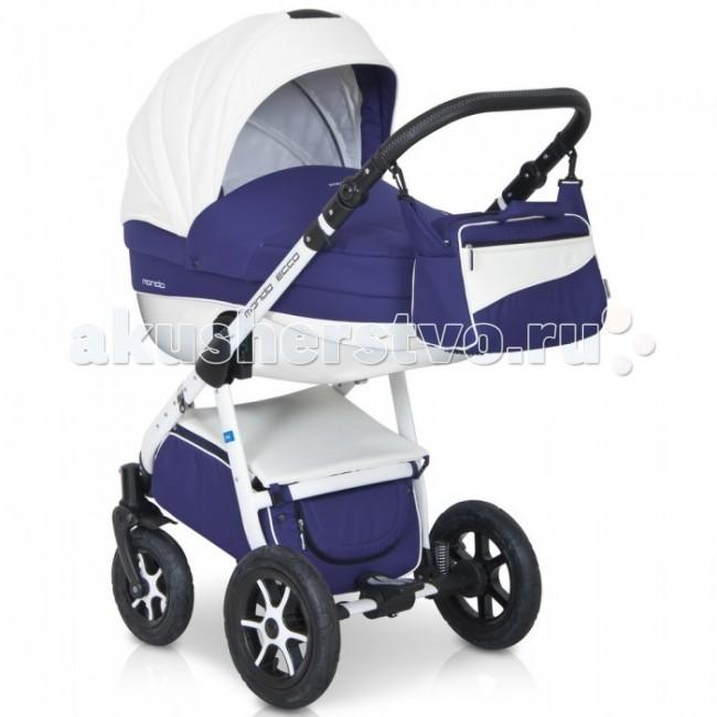 Коляска Expander Mondo Ecco 3 в 1Mondo Ecco 3 в 1Детская коляска Mondo Ecco 3в1 от Польского производителя Expander предназначена для детей с рождения и до 3-х лет.  Современная коляска в оригинальном стильном дизайне, обладает отменными эксплуатационными качествами и высокой надежностью, гарантирует удобство не только ребенку, но и родителям.  Коляска Mondo Ecco укомплектована автокреслом-переноской, комфортной люлькой и прогулочным блоком, которые легко устанавливаются на раму, как по ходу, так и против хода движения, т.е. «лицом к маме».   Люлька коляски просторная, обтекаемой формы позволит малышу чувствовать себя комфортно как зимой, так и летом. Бортики люльки дополнительно утеплены изнутри, что защищает малыша от ветра и непогоды во время прогулок.  Комфортное и удобное прогулочное сиденье для подросшего малыша предоставит наилучшие условия для увлекательных прогулок и изучения окружающего мира. Для этого спинка сиденья может устанавливаться в нескольких положениях, а подножка регулируется по высоте.  Модель коляски очень удобна и маневренна благодаря небольшому весу, всего 14 кг, и ширины колесной базы в 60 см, позволяющей провезти коляску практически в любую дверь или лифт. Коляска оснащена пружинной амортизацией, большими маневренными колесами и надежной алюминиевой рамой. Коляска с такими характеристиками без проблем преодолевает самые разные препятствия на своем пути, не боится снега, дождя и грязи.  Выполнена коляска на облегчённой алюминиевой раме в белом цвете. Люлька изготовлена из прочного пластика, верхняя часть коляски из экологически чистой морозостойкой эко-кожи, с влагостойкой пропиткой и защитой от солнечных лучей.  Превосходное сочетание дизайна и европейского качества!   Автокресло-переноска:  • Автокресло для детей (группа + 0 до 13 кг.)  • Анатомическая форма сиденья  • Имеется адаптер, который позволяет закрепить автокресло на раму коляски  • Трехточечные ремни безопасности с центральным замком  • Удобная ручка для переноски  • Регулируем