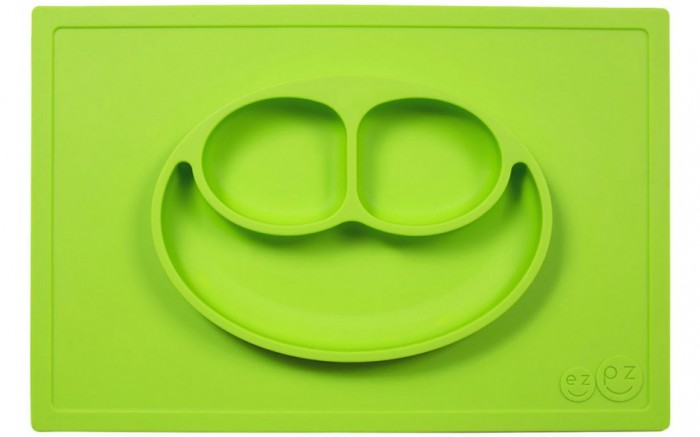 Ezpz Низкая тарелка с разделителями на прямоугольном подносе Happy Mat 540 мл